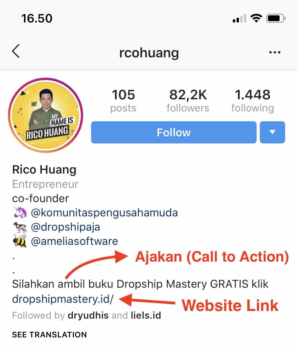 Contoh Kata Kata Bio Instagram Yang Menarik Followers